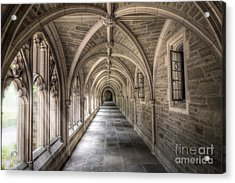 Gothic Hall At Princeton Nj Acrylic Print