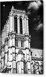 Gothic Notre Dame Acrylic Print by John Rizzuto