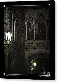 Gothic Shadows Acrylic Print by Pedro L Gili