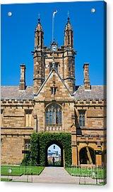 Gothic Tower And Entrance Of Sydney University Acrylic Print
