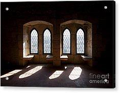 Gothic Windows Of The Royal Residence In The Leiria Castle Acrylic Print by Jose Elias - Sofia Pereira