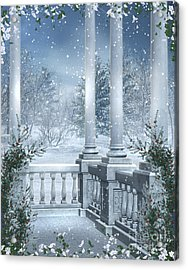 Gothic Winter Acrylic Print by Boon Mee