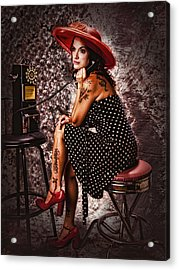 Acrylic Print featuring the photograph Gotta Dime I Can Use ... by Chuck Caramella
