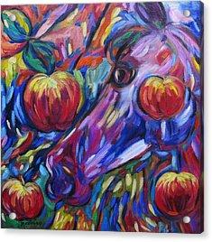 Gotta Luv Them Rosie Apples I Acrylic Print by Dianne  Connolly