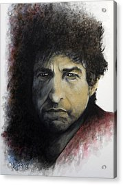 Gotta Serve Somebody - Dylan Acrylic Print by William Walts