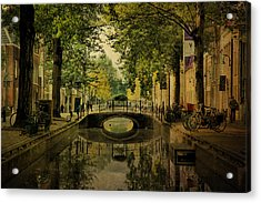 Acrylic Print featuring the photograph Gouda In Vintage Look by Annie Snel