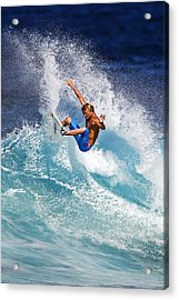 Gouging The Wave  C6j0694 Acrylic Print by David Orias