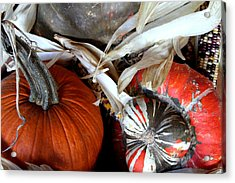 Gourd Geous George Acrylic Print by Laurette Escobar