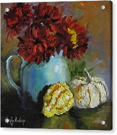 Acrylic Print featuring the painting Gourd Painting Iv by Cheri Wollenberg