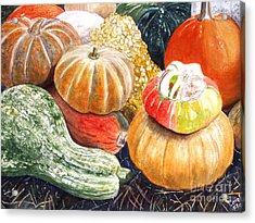 Gourds Acrylic Print by Carol Flagg