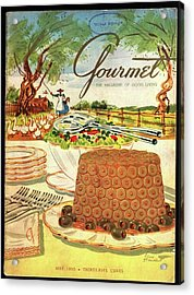 Gourmet Cover Featuring A Buffet Farm Scene Acrylic Print by Henry Stahlhut
