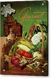 Gourmet Cover Featuring A Variety Of Vegetables Acrylic Print by Henry Stahlhut