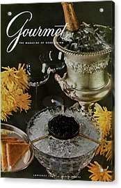 Gourmet Cover Featuring A Wine Cooler Acrylic Print by Arthur Palmer