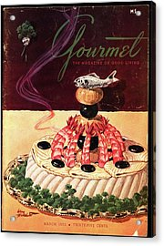 Gourmet Cover Illustration Of A Filet Of Sole Acrylic Print