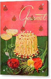 Gourmet Cover Illustration Of A Molded Rice Acrylic Print by Henry Stahlhut