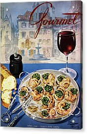 Gourmet Cover Illustration Of A Platter Acrylic Print by Henry Stahlhut