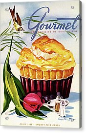 Gourmet Cover Illustration Of A Souffle And Tulip Acrylic Print