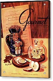 Gourmet Cover Illustration Of A Tray Of Cheese Acrylic Print