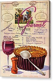 Gourmet Cover Illustration Of Deep Dish Pie Acrylic Print by Henry Stahlhut