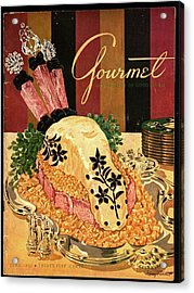 Gourmet Cover Illustration Of Langue De Boeuf Acrylic Print by Henry Stahlhut