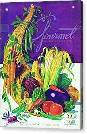 Gourmet Cover Of A Cornucopia Acrylic Print