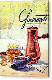 Gourmet Cover Of A French Breakfast Acrylic Print by Henry Stahlhut