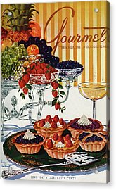 Gourmet Cover Of Fruit Tarts Acrylic Print