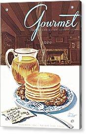 Gourmet Cover Of Pancakes Acrylic Print
