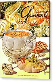 Gourmet Cover Of Pumpkin Soup Acrylic Print