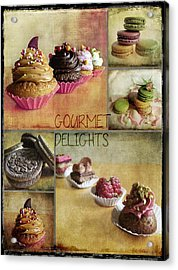 Gourmet Delights - Collage Acrylic Print by Barbara Orenya
