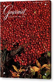 Gourmet Magazine Cover Featuring Cranberries Acrylic Print by Lans Christensen