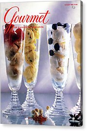 Gourmet Magazine Cover Featuring Ice Cream Acrylic Print