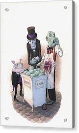 Gourmets Acrylic Print by Richard Moore