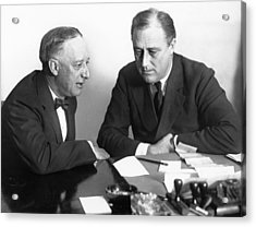 Gov. Al Smith And Roosevelt Acrylic Print by Underwood Archives