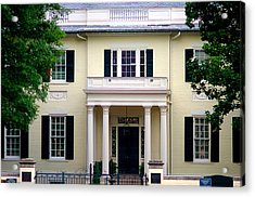 Acrylic Print featuring the photograph Va Govenors Mansion Richmond Va by Suzanne Powers