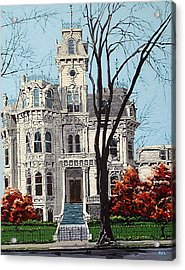 Governor's Mansion Acrylic Print by Paul Guyer