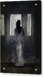 Gown Acrylic Print by Spokenin RED