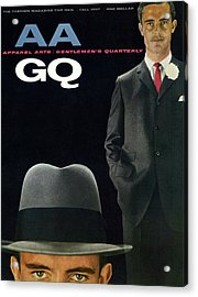 Gq And Aa Cover Of A Montage Of A Male Model Acrylic Print by Emme Gene Hall