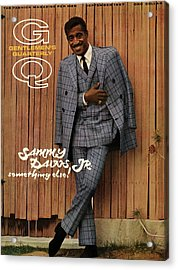 Gq Cover Featuring Sammy Davis Jr Acrylic Print by Milton Greene