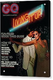 Gq Cover Of A Couple In Disco Setting Acrylic Print by Chris Von Wangenheim