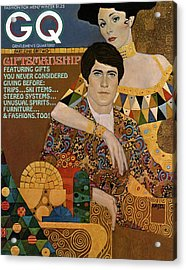 Gq Cover Of An Illustration Of An Couple Acrylic Print by Richard Amsel