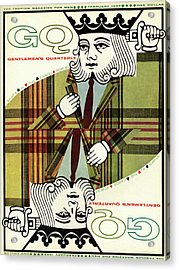 Gq Cover Of An Illustration Of King Playing Card Acrylic Print by Greenberg & Smith