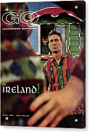 Gq Cover Of Model In Ireland Acrylic Print by Chadwick Hall
