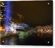 G.r. Grand River Dazzling Lights Acrylic Print by Mark Minier