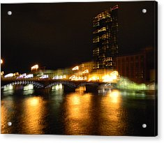G.r. Grand River Glow Acrylic Print by Mark Minier