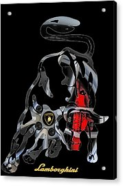 Grab The Bull By The Horns Acrylic Print by Michael White