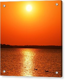 Grab Your Cup Of Coffee And Enjoy The Sunrise Acrylic Print by Dacia Doroff