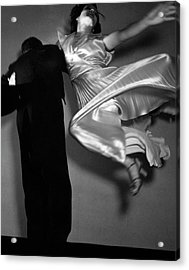 Grace And Paul Hartman Dancing Acrylic Print by Edward Steichen