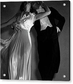 Grace And Paul Hartman Acrylic Print by Edward Steichen