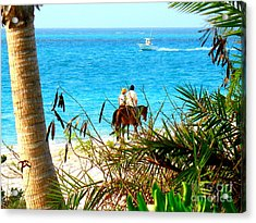 Acrylic Print featuring the photograph Grace Bay Riding by Patti Whitten